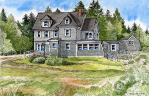 The Ruth Lepper Gardner House ~ Sketch by Barbara Tapp